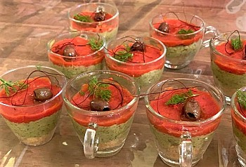 Chesecake salata di broccoli e pomodorini