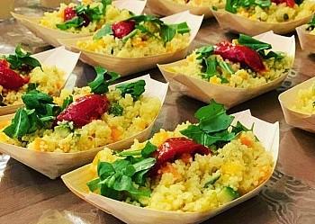 Cous Cous alle verdure, ceci e pomodorini secchi