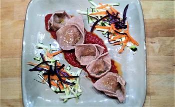 Ravioli con lenticchie