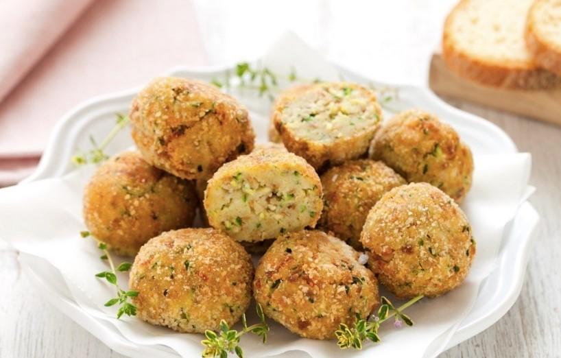 Foto Bread, Seitan and Zucchini Meatballs
